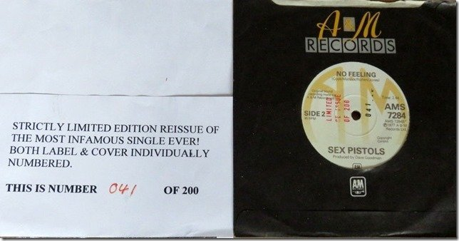 SEX PISTOLS, NUMBERED LIMITED EDITION