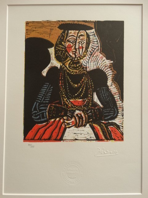 PABLO PICASSO, 1988 SPADEM SIGNED AND NUMBERED