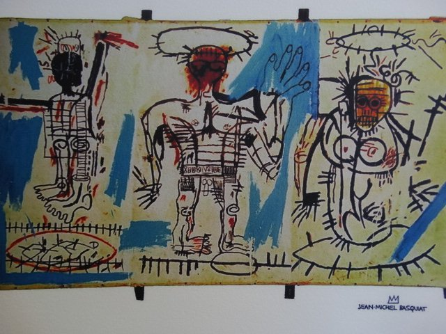 JEAN-MICHEL BASQUIAT PLATE SIGNED AND HAND NUMBERED - 6