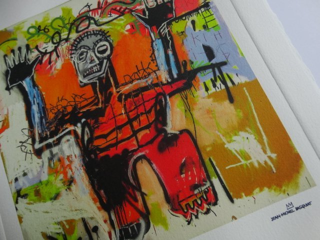 JEAN-MICHEL BASQUIAT, PLATE SIGNED AND HAND NUMBERED
