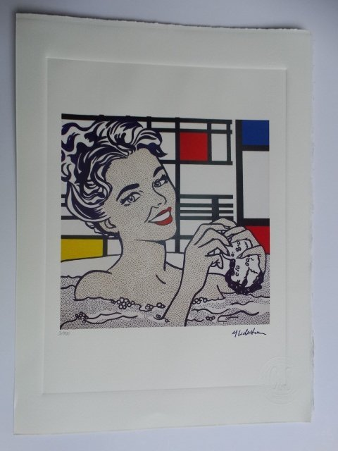 ROY LICHTENSTEIN, PLATE SIGNED AND HAND NUMBERED