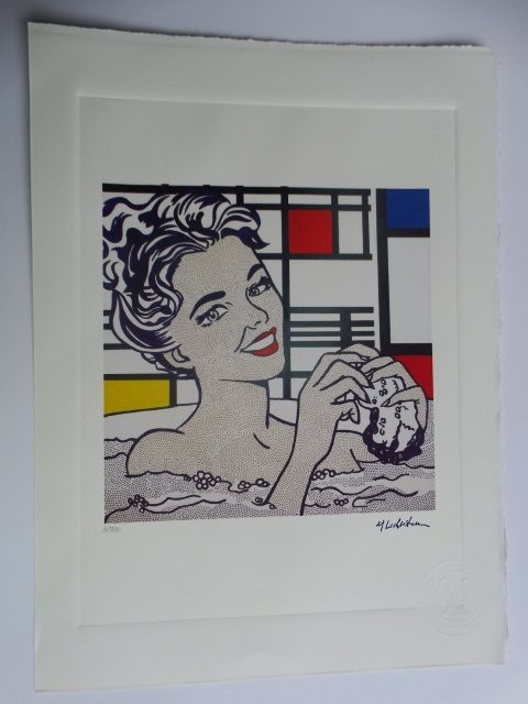 ROY LICHTENSTEIN, PLATE SIGNED AND HAND NUMBERED - 6