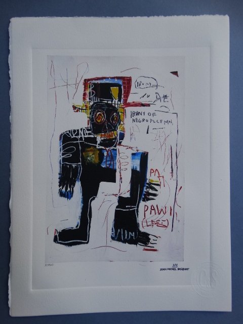Jean-Michel Basquat, HAND NUMBERED,LIMITED PLATE SIGNED