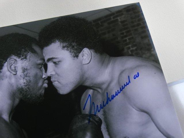 Muhammad Ali & Joe Frazier, signed, autograph