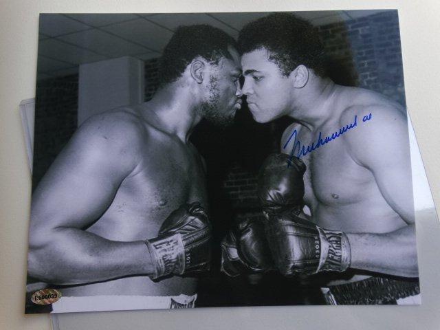 Muhammad Ali & Joe Frazier, signed, autograph - 5