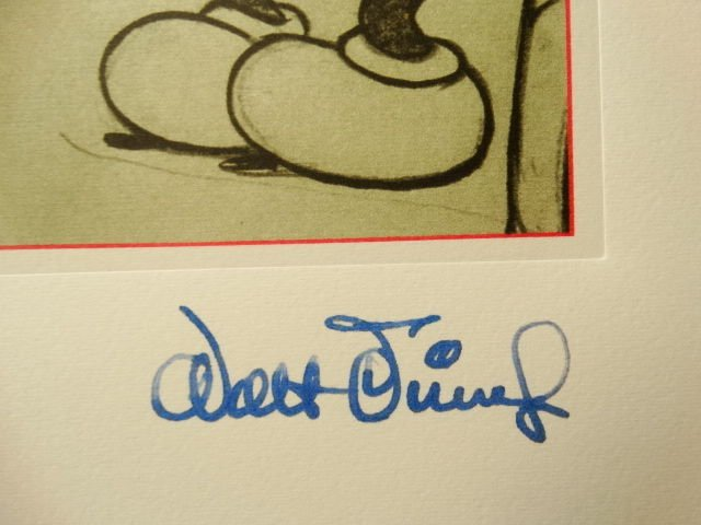 Mickey Mouse and Pluto,Walt Disney, signed lithograph - 3