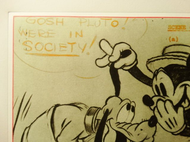 Mickey Mouse and Pluto,Walt Disney, signed lithograph - 4