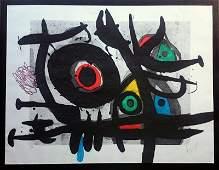 Joan Miró, etching and aquatint, carborundum