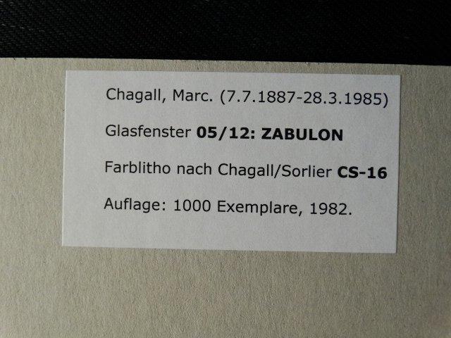 MARC CHAGALL, 1982, ZABULON - 3