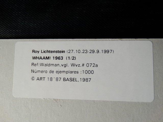 Roy Lichtenstein,  1987 -ART BASEL - 3
