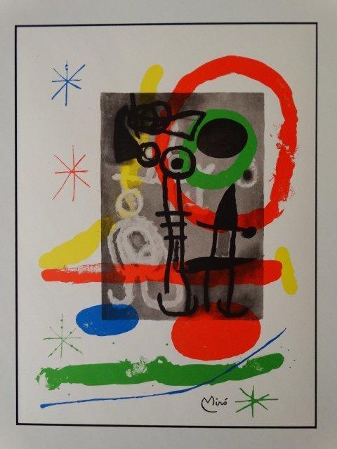 JOAN MIRO, SIGNED, 1980