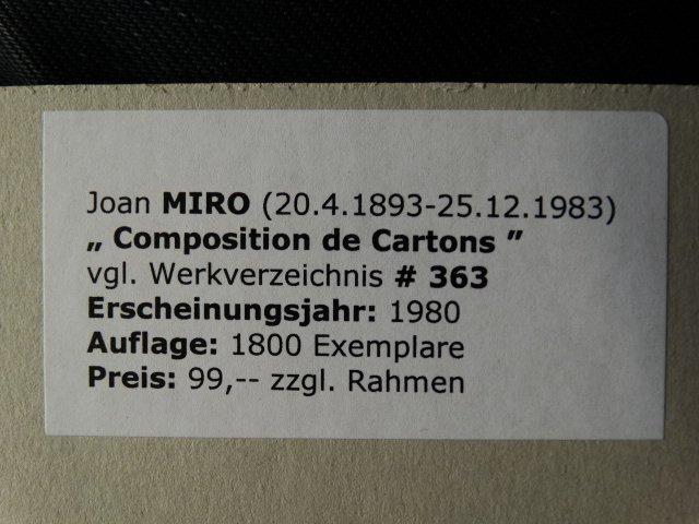 JOAN MIRO, SIGNED, 1980 - 5