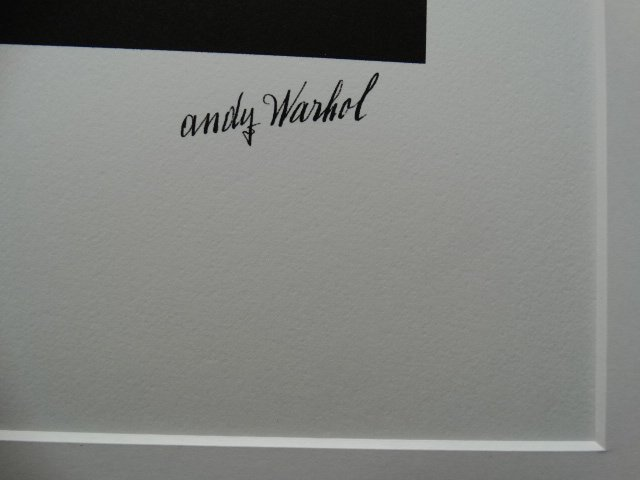 ANDY WARHOL, PLATE SIGNED AND HAND NUMBERED - 3