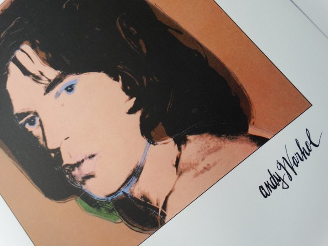 ANDY WARHOL, PLATE SIGNED  HAND NUMBERED, MICK JAGGER