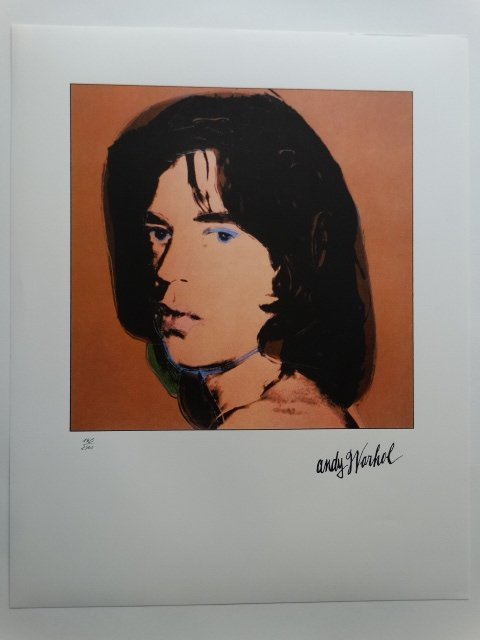 ANDY WARHOL, PLATE SIGNED  HAND NUMBERED, MICK JAGGER - 2