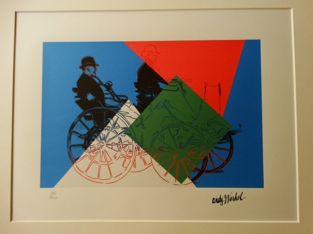 ANDY WARHOL, PLATE SIGNED AND HAND NUMBERED