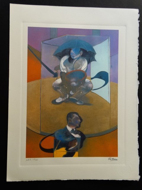 FRANCIS BACON, PLATE SIGNED AND HAND NUMBERED