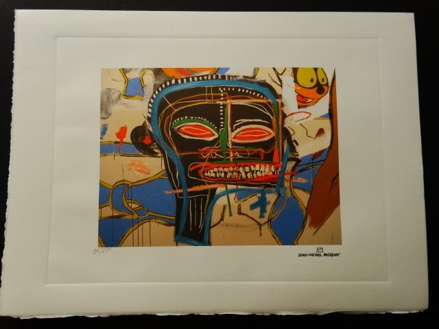 Jean-Michel Basquiat, PLATE SIGNED AND HAND NUMBERED - 2