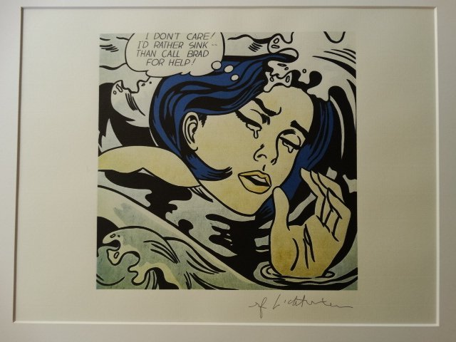 ROY LICHTENSTEIN, LITHOGRAPH, PLATE SIGNED - 2