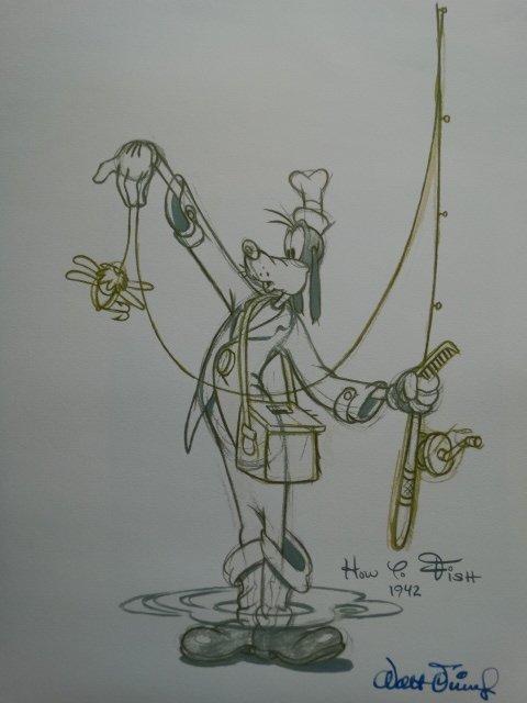 Walt Disney, signed lithograph