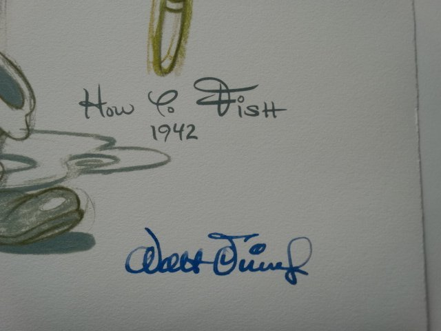 Walt Disney, signed lithograph - 2