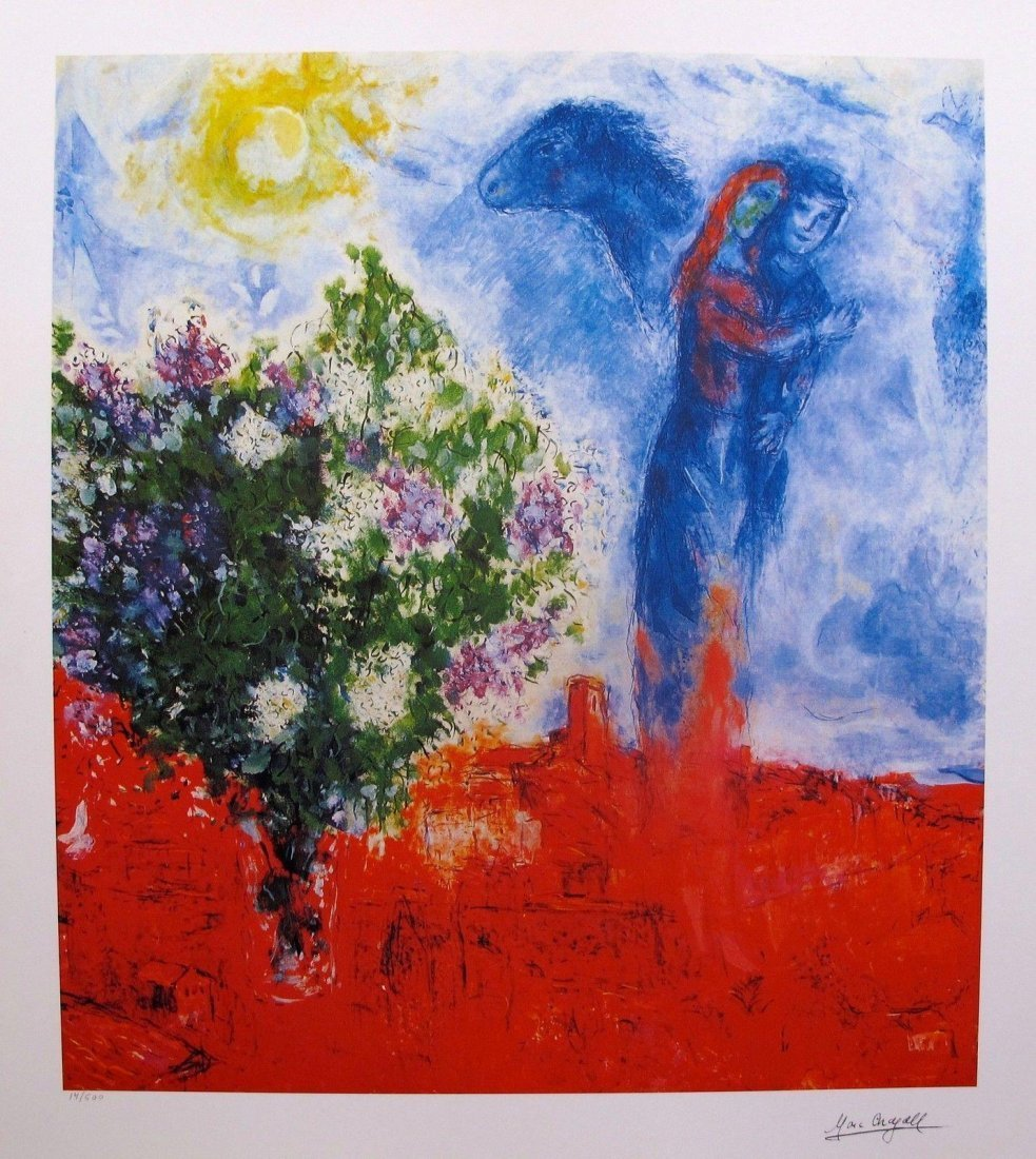 Marc Chagall,Couple above St. Paul