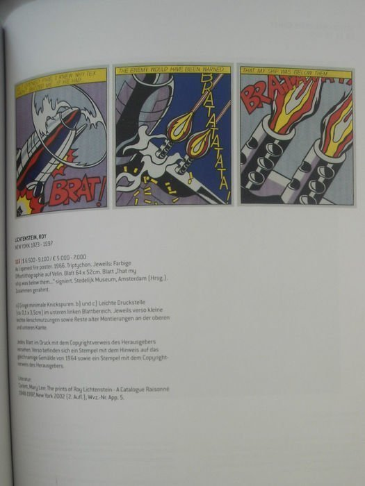 ROY LICHTENSTEIN As I Opened Fire (Triptych) , 1966 - 4