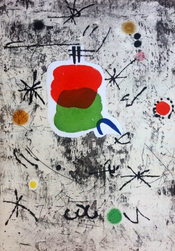 Joan Miro, Collage and etching, 1979 - 4