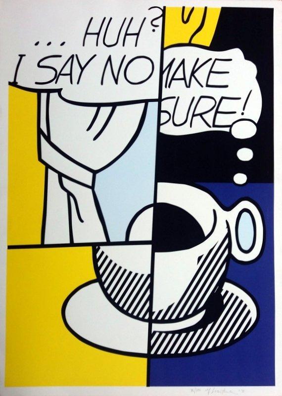 Roy LICHTENSTEIN (1923-1997) Title : Huh?
