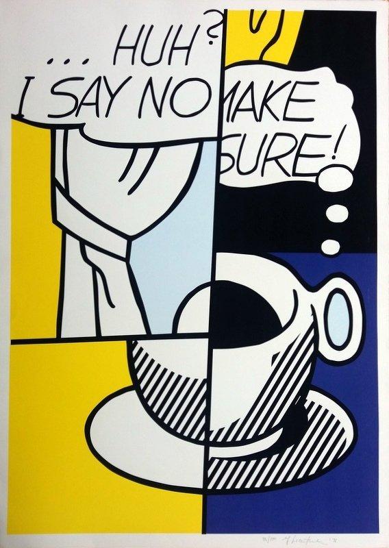 Roy LICHTENSTEIN (1923-1997) Title : Huh? - 3