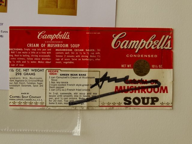 Campbells can label signed by Andy Warhol- Pop Art Icon