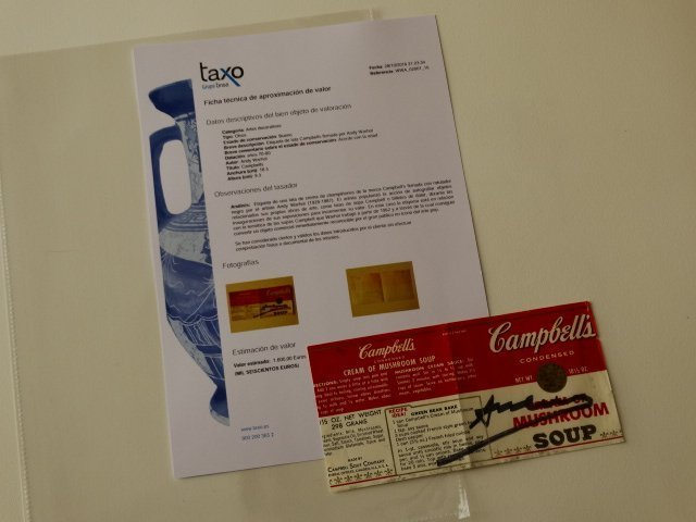 Campbells can label signed by Andy Warhol- Pop Art Icon - 6