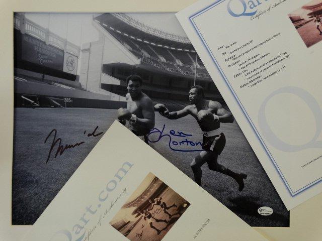Muhammad Ali & Ken Norton -Hand signed- 2 COAs