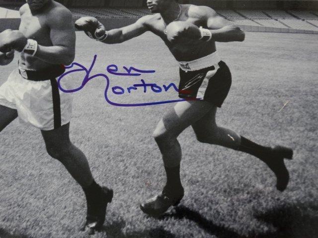 Muhammad Ali & Ken Norton -Hand signed- 2 COAs - 6