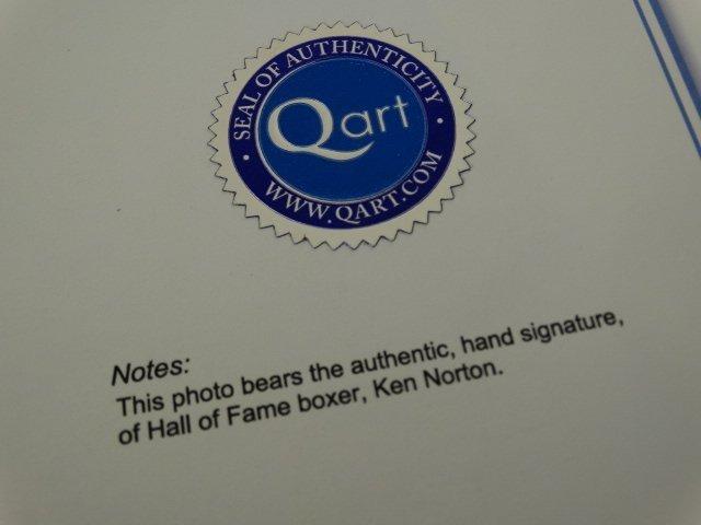 Muhammad Ali & Ken Norton -Hand signed- 2 COAs - 9