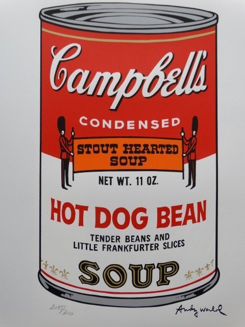 ANDY WARHOL, CAMPBELLS LITHOGRAPH SIGNED HAND NUMBERED