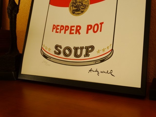 ANDY WARHOL, CAMPBELLS LITHOGRAPH SIGNED HAND NUMBERED - 2