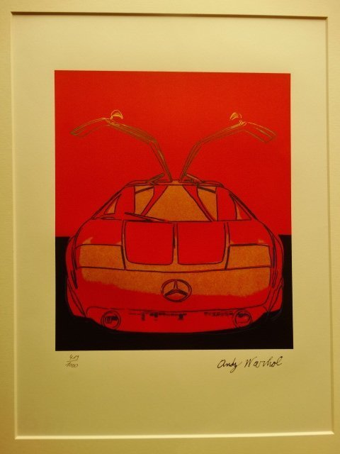 ANDY WARHOL, MERCEDES LITHOGRAPH SIGNED HAND NUMBERED - 2