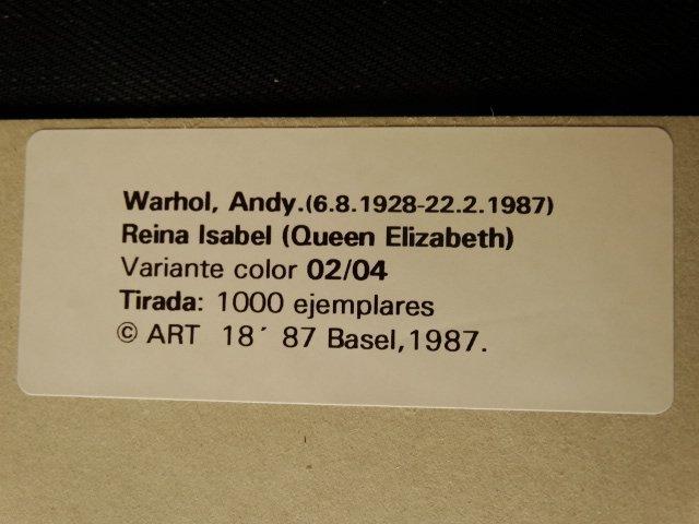 ANDY WARHOL, QUEEN ELIZABETH, 1987 -ART BASEL - 4