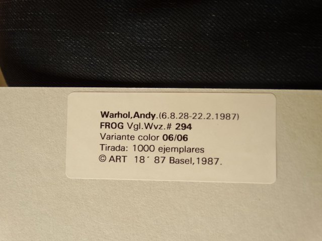 ANDY WARHOL, 1987 -ART BASEL - 4