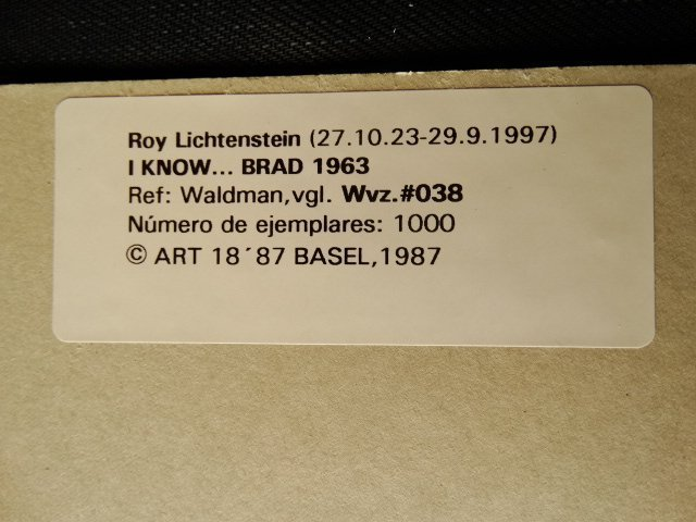 ROY LICHTENSTEIN 1987 -ART BASEL - 4