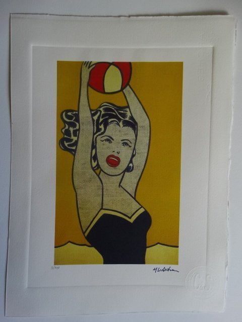 ROY LICHTENSTEIN PLATE SIGNED AND HAND NUMBERED - 5