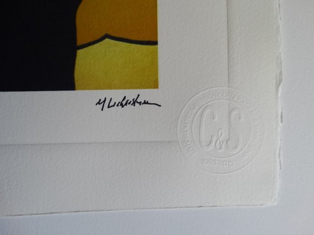 ROY LICHTENSTEIN PLATE SIGNED AND HAND NUMBERED - 6