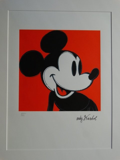 ANDY WARHOL, MICKEY MOUSEPLATE SIGNED AND HAND NUMBERED - 2