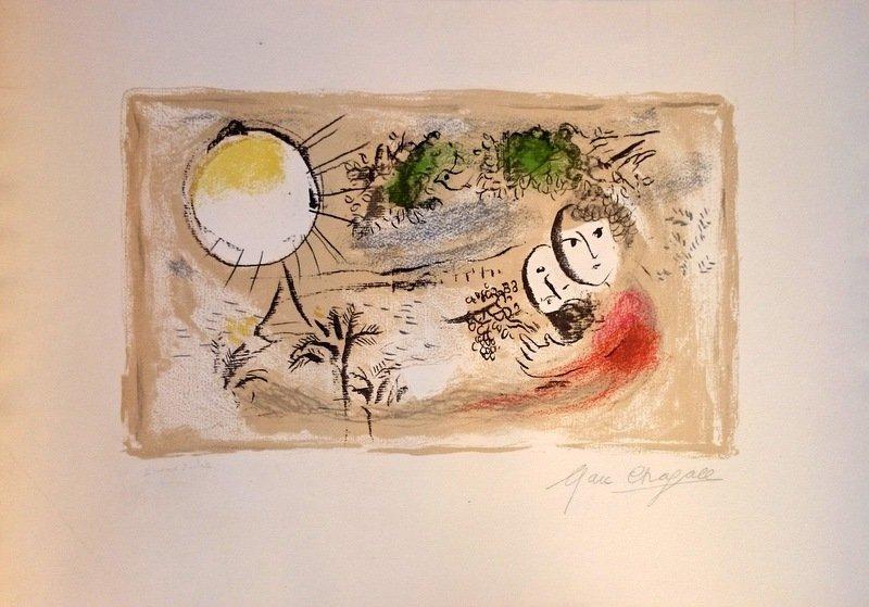 Marc chagall.Le Repós. 1968.