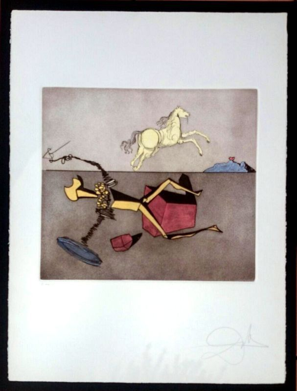 Salvador Dali, 1980, etching, hand signed and numbered