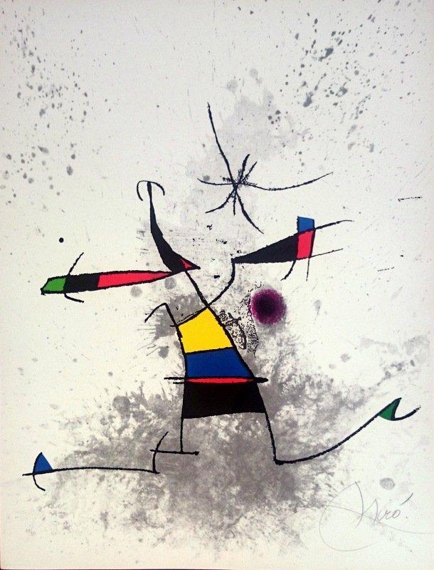 Joan Miró, etching and aquatint.