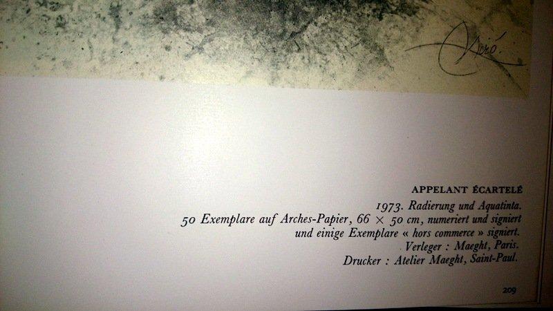 Joan Miró, etching and aquatint. - 4