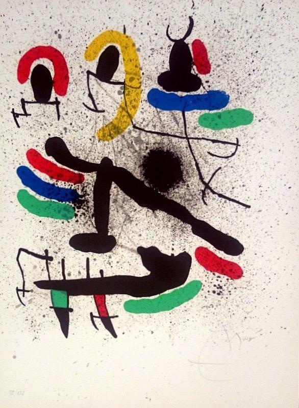 Joan Miró, lithograph, 1971