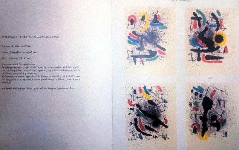 Joan Miró, lithograph, 1971 - 4